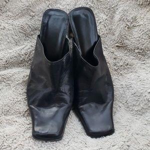 Leather square toe Mules ❤